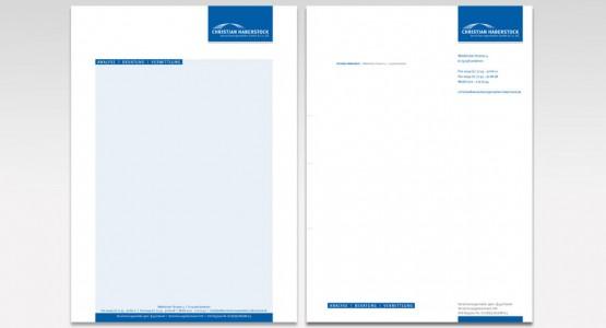 Briefbogen und Schreibblock