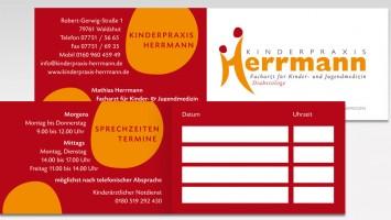 Termin- , Visitenkarten